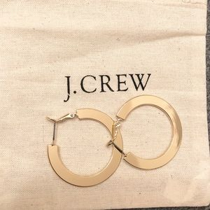 Jcrew flat hoop earrings gold